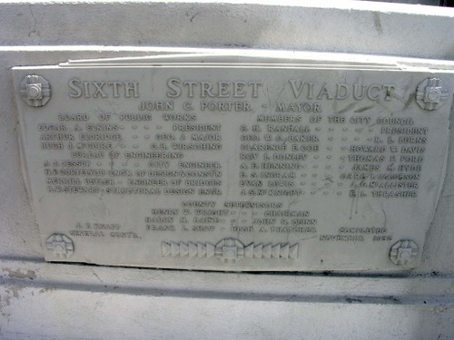 6th Street Viaduct Plaque