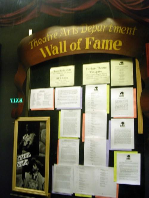 Wall of Shame, I mean Fame