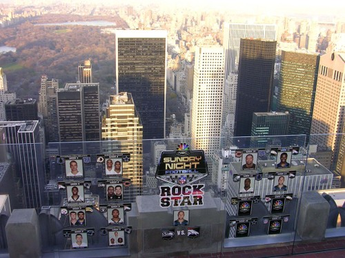 NBC NFL Rock Stars and the city